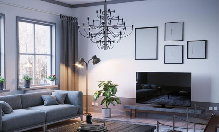 living room designs new way with shades of blue