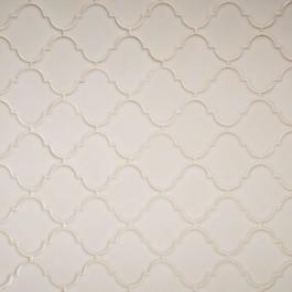 Antique White Glossy Arabesque Mosaic