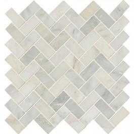Arabescato Carrara Herringbone Pattern 12X12 Honed