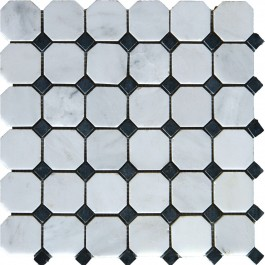 "Arabescato Carrara Octagon 2"" Honed"