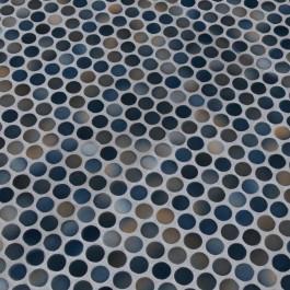 Bianco Penny Round Matte Porcelain Mosaic