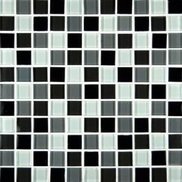 Black&White Blend Glass 1x1x8MM