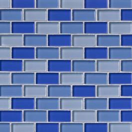 Blue Blend Brick 1X2X8MM