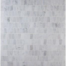 Carrara White Trapezoid Pattern Polished Mosaic