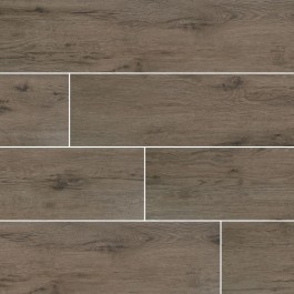 Celeste Taupe 8X40 Black Matte Wood Look Ceramic Tile