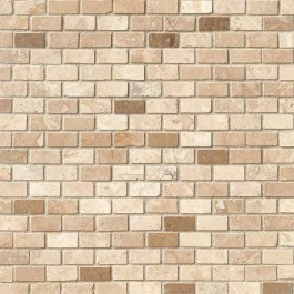 Noce/Chiaro Mini Brick 12x12 Honed