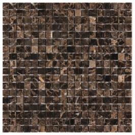 Spanish Emperador Dark 5/8x5/8 Polished Marble Mosaic