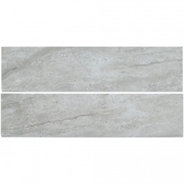 Classique Gris Travertine 4X16 Glossy Bullnose