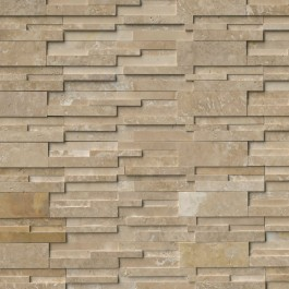 Durango Cream 6X24 3D Honed Ledger Panel