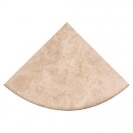 """Durango Cream Corner Shelf 9"""" Radius Honed"""