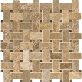 Emperador Light Basket Weave 12X12 Polished