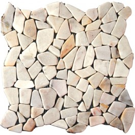 Flat White Pebbles 16X16 Tumbled
