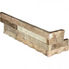 Fossil Rustic 6X12X6 Split Face Corner Ledger Panel