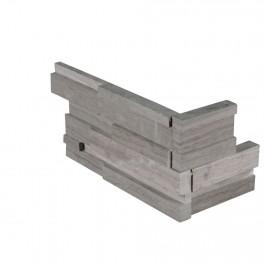 Gray Oak 6X12X6 3D Honed Corner Ledger Panel