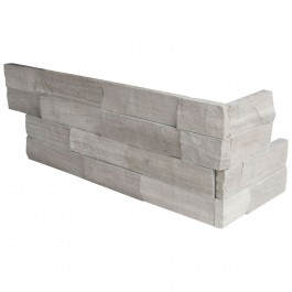 Gray Oak 6X12X6 Splitface Corner Ledger Panel