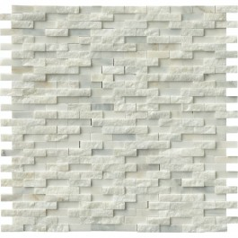 Greecian White Splitface Interlocking Pattern Mosaic