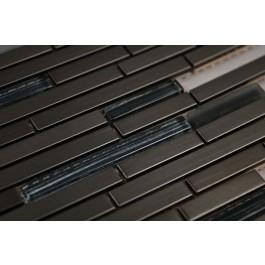 Stainless Steel & Glass Mix 12x12 Interlocking Mosaic