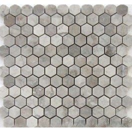 Gray Cloud Hexagon 1x1 Polished Mosaic