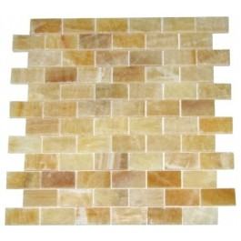 Pineapple Onyx 1x2 Polished Marble Mosaic