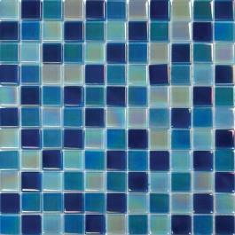 Irdiscent Blue Blend 12X12 Crystallized
