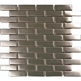 Metal Silver Brick Matte Pattern Metal