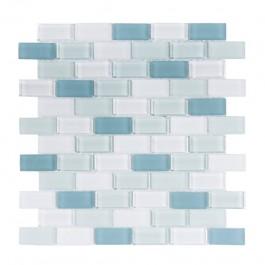 Mint Ice Brick 1x2 Crystallized