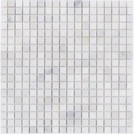 Oriental White 1x1Polished Marble Mosaic