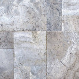 Silver Travertine Honed Unfilled Tumbled