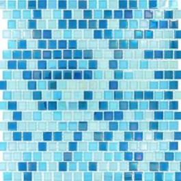 Sky Blue Blend 12x12 Crystallized