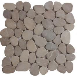 Tan Natural 12X12 Interlocking Indonesia Pebble Tile
