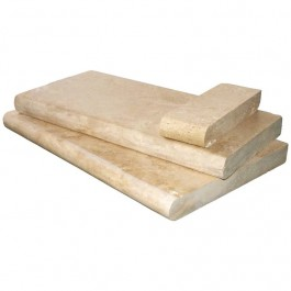 Tuscany Beige 12X24 Honed Unfilled Brushed One Long Side Bullnose Pool Coping
