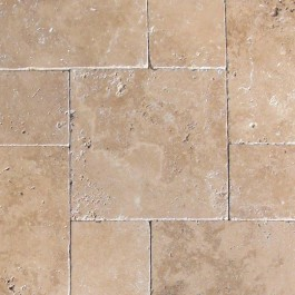Tuscany Chocolade 16 Sft French Pattern Tumbled