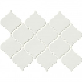 Whisper White Arabesque Ceramic 8mm