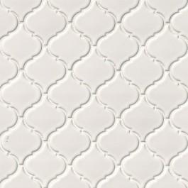 White Hudson Glossy Arabesque Mosaic