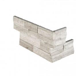White Oak 6x12x6 Split Face Corner Ledger Panel
