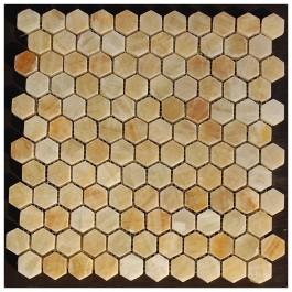 Yellow Onyx Hexagon