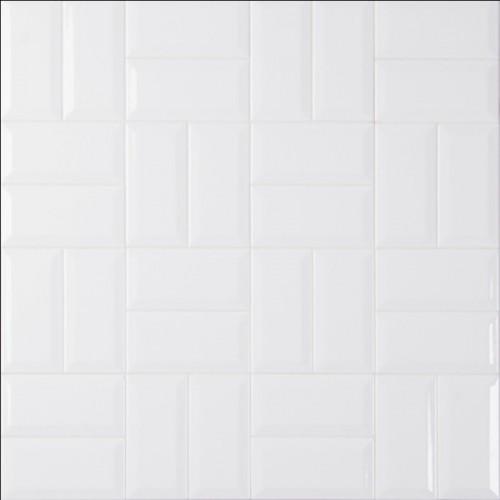Domino White Glossy 3x6 Beveled Tile Findstone Us