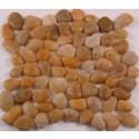Gold Pebble 12x12 Polished Mesh Stone Tile