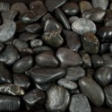 Black Polished 1-2 CM Beach Pebbles