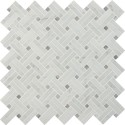 Carrara White Basketweave 12x12 Polished Mosaic