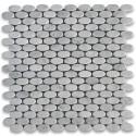 Carrara White Polished Elipse Oval Mosaic