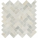 Arabescato Carrara Herringbone Pattern 12X12 Honed