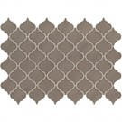 Artisan Taupe Arabesque Glossy Ceramic Tile