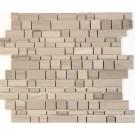 Athens Gray 12x12 Honed Interlocking Mosaic