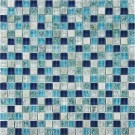 Azure Blue 5/8x5/8 Glass Mix Blend Mosaic