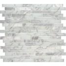 Blocki Blanco Interlocking Pattern Glass Stone Mosaic