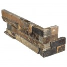 Rustic Gold 6x12x6 Split Face Corner Ledger Panel