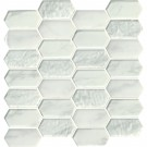 Calypso Picket Pattern Inkjet Glass Mosaic