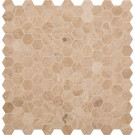 Carmello Hexagon 2x2 Honed and Filled Travertine Mosaic
