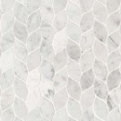 Carrara White Blanco Pattern Honed Mosaic